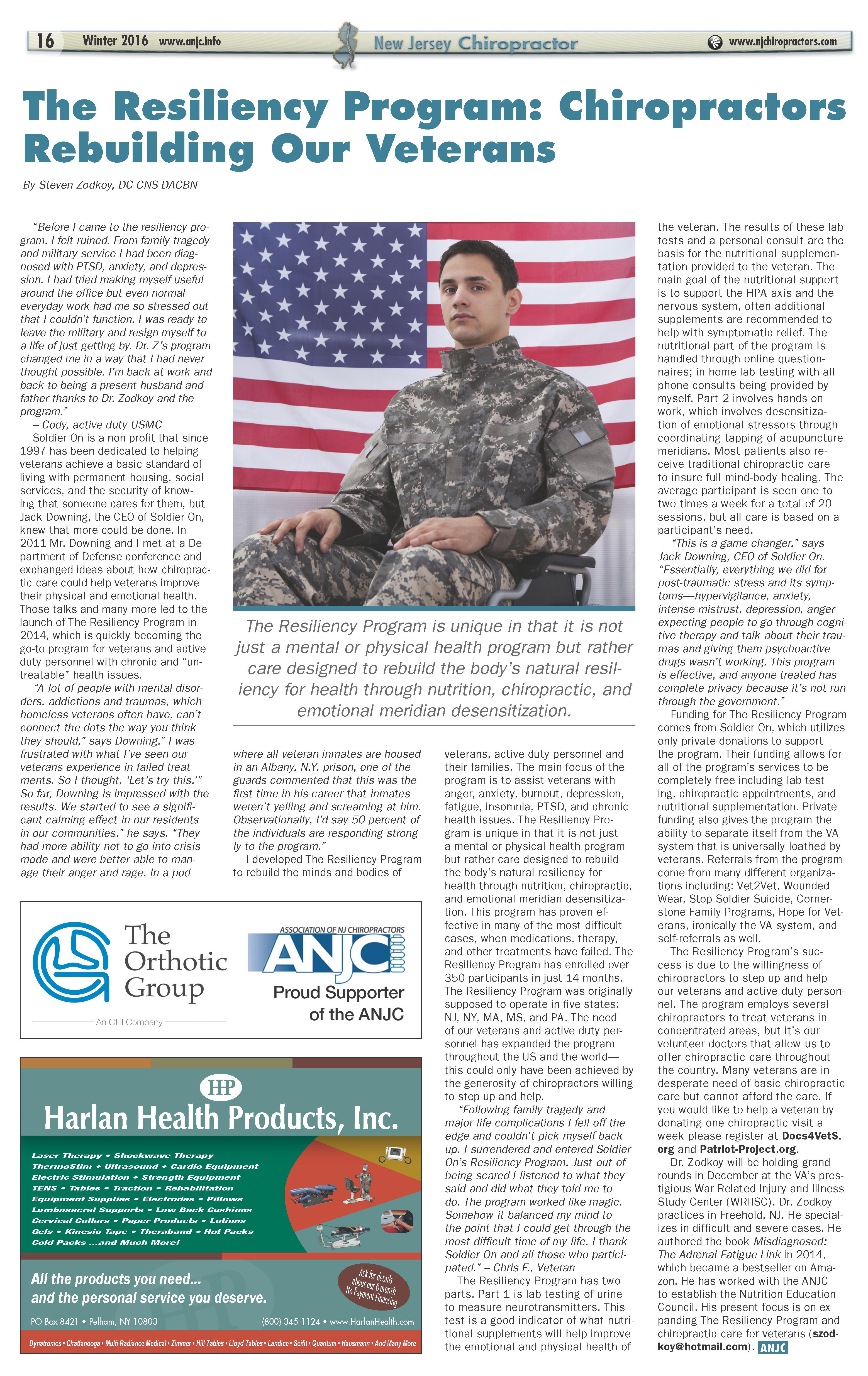 Soldier On Resiliency Program