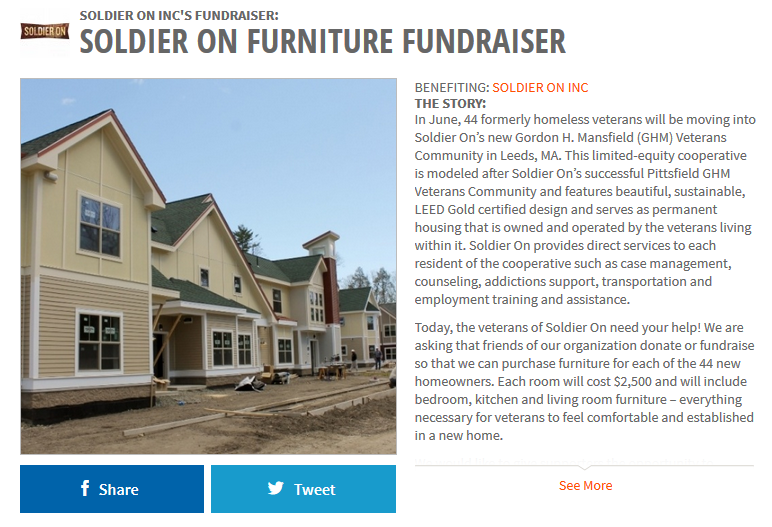 Soldier On Furniture Fundraiser